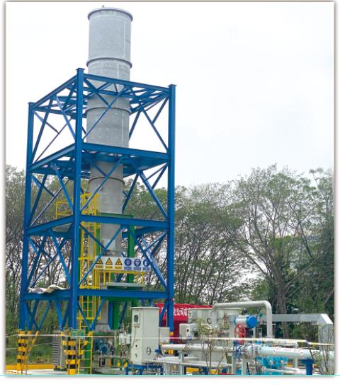 扬子石化贮运厂液体装卸作业区、油品作业区、码头作业区共四套新建CEB(超低排放燃烧)尾气处理环保装置